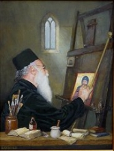 Portrait of Father Yanis, Icon Painter, Cyprus