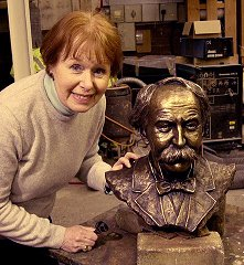 Phyllis with Bronze Bust of William Percy French